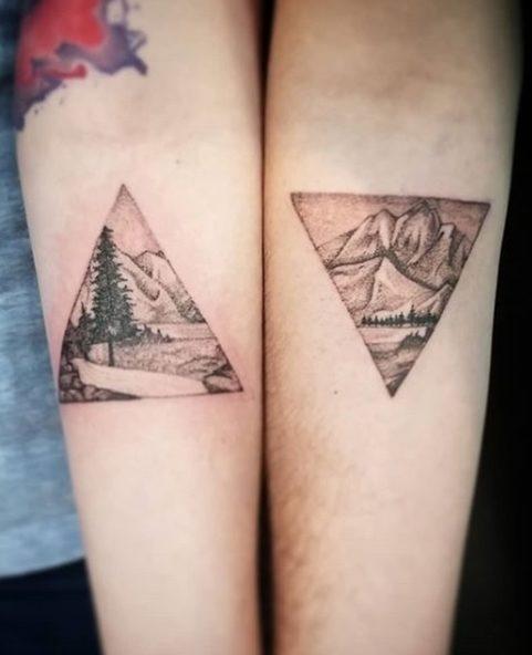 Matching Couple Tattoos