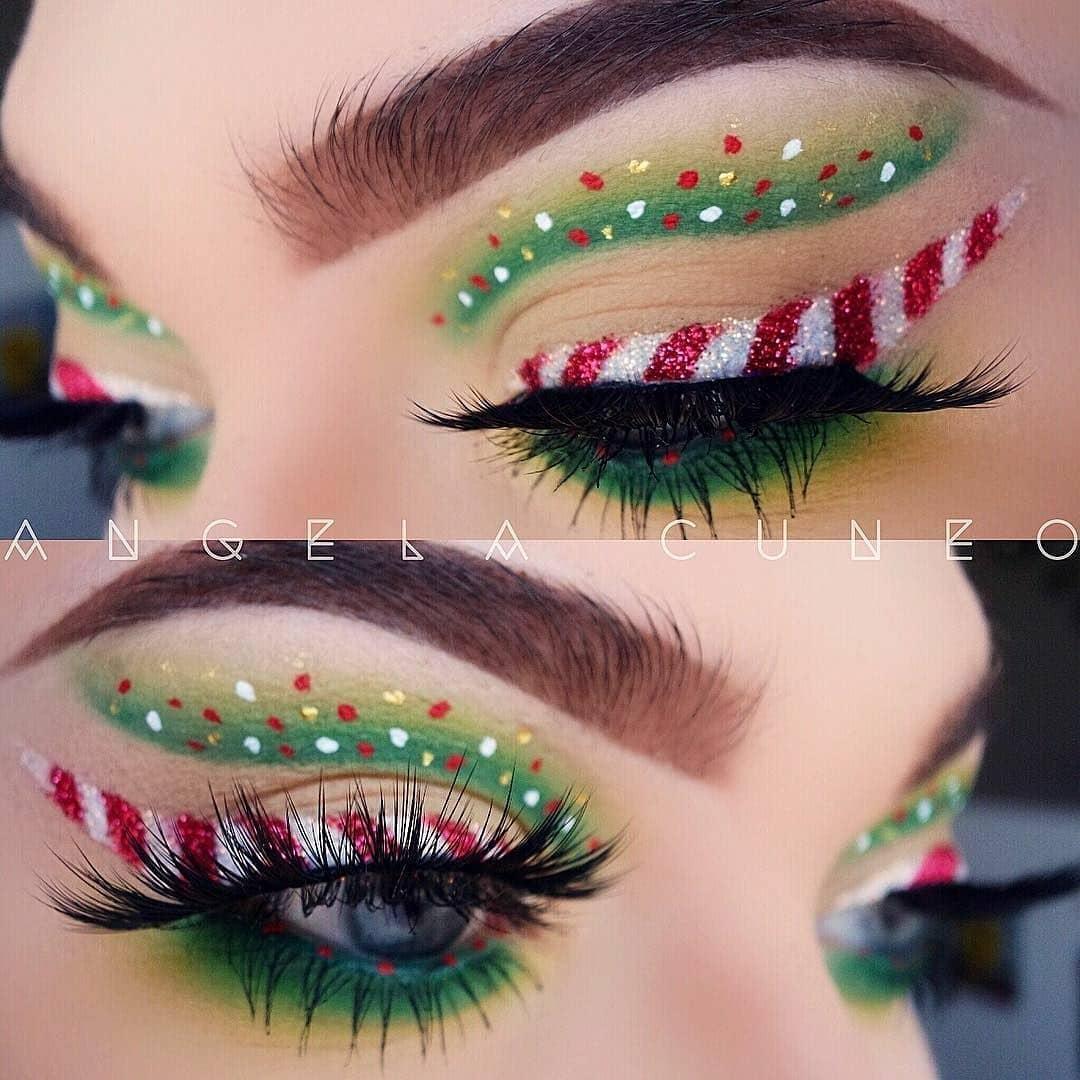 Mesmerizing Christmas Makeup Ideas