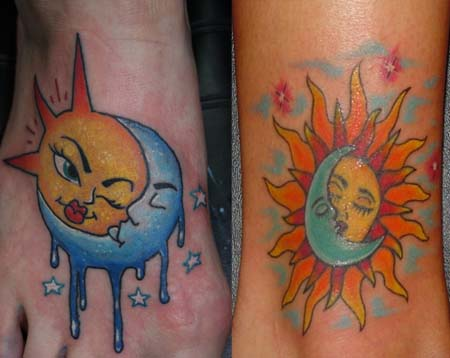 Sun and Moon Tattoo Ideas
