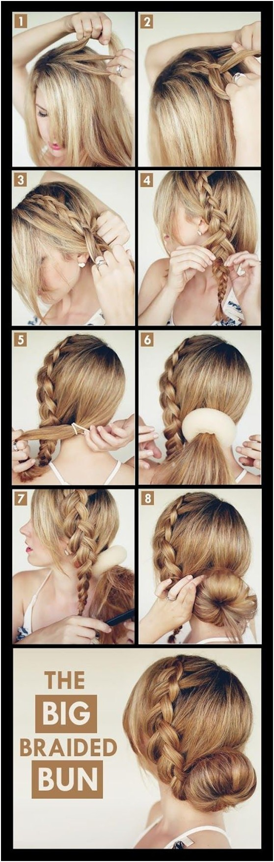 Super Stylish Braided Bun Hairstyle